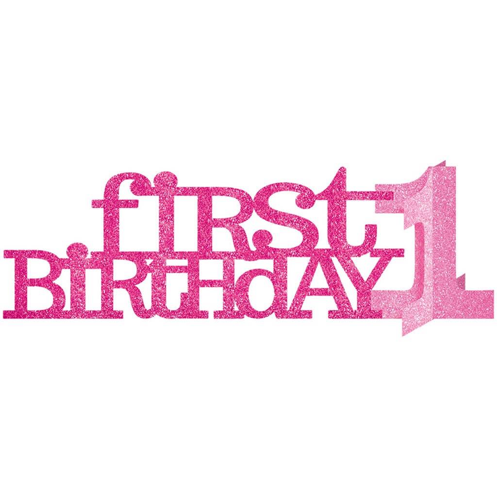 Centre de table en papier First Birthday Girl