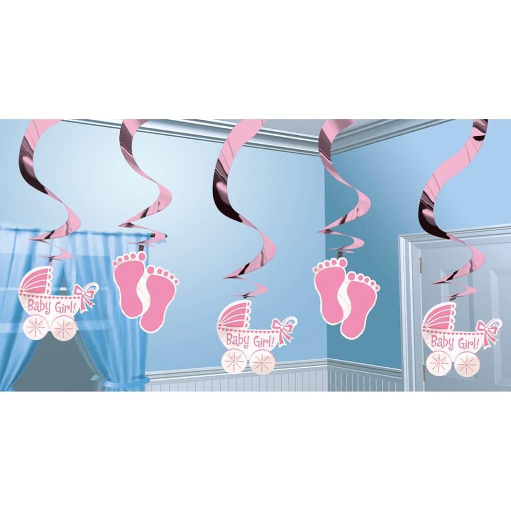 Décoration spirale Baby Girl 61cm (5 pièces)