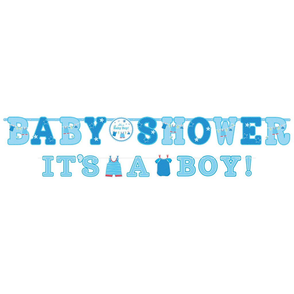 Lot de 2 Guirlandes Baby Shower Garçon