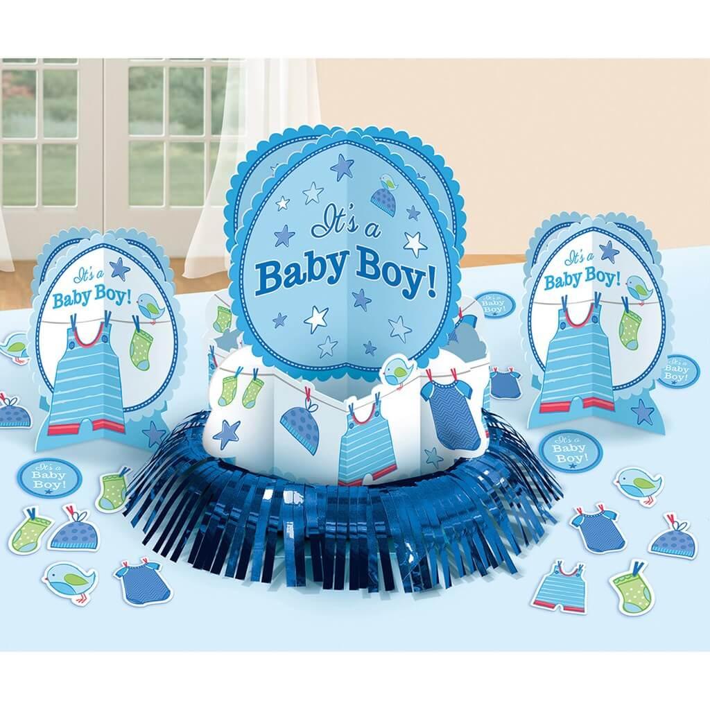Kit décoration de table Baby Shower Garçon (23 pièces)