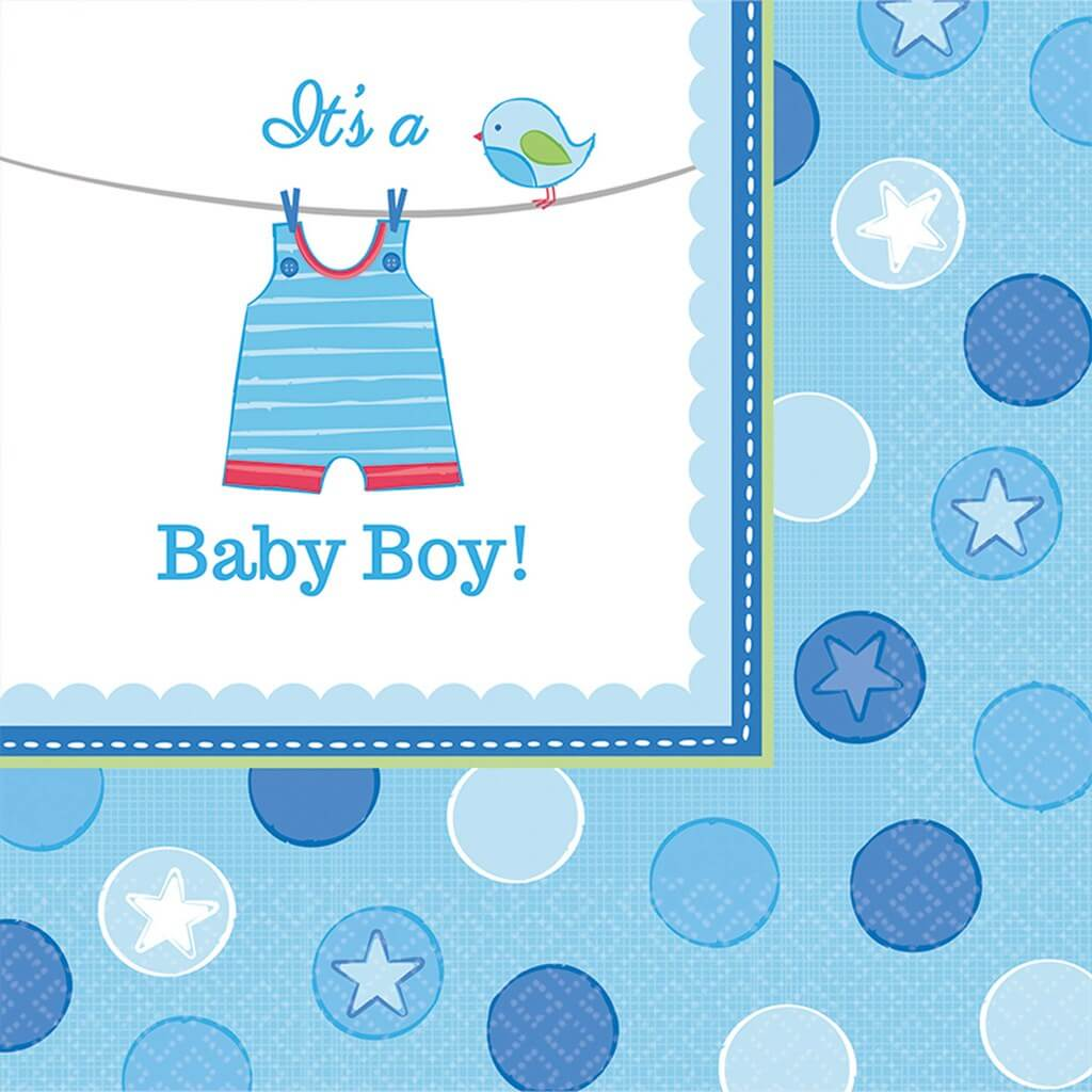 Serviette It's a Boy (lot de 16)