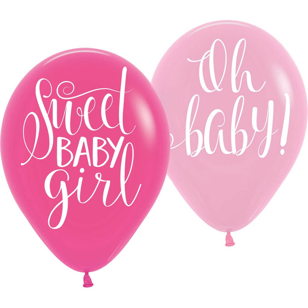 6 Ballons Sweet Baby Girl