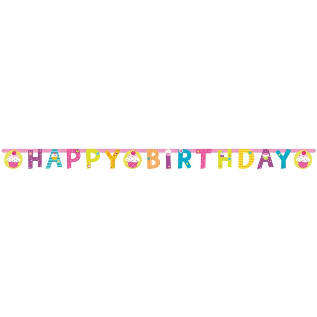 Guirlande Happy Birthday Cupcake