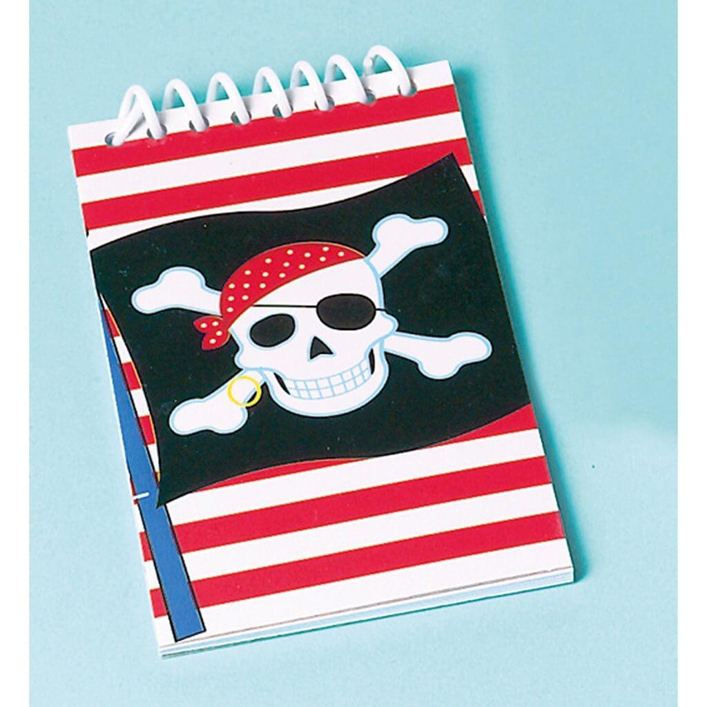 Lot de 12 Mini bloc-notes Pirate