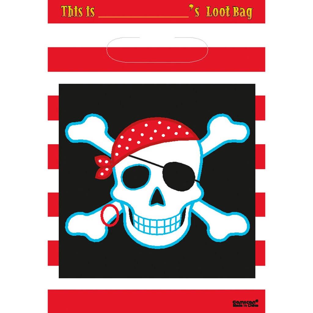 Sac cadeaux Pirate 16,5x25cm