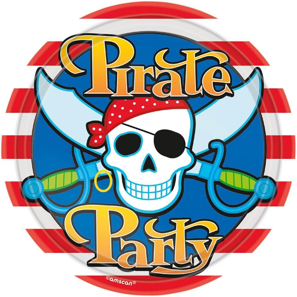 Assiette en papier Pirate party ø23cm