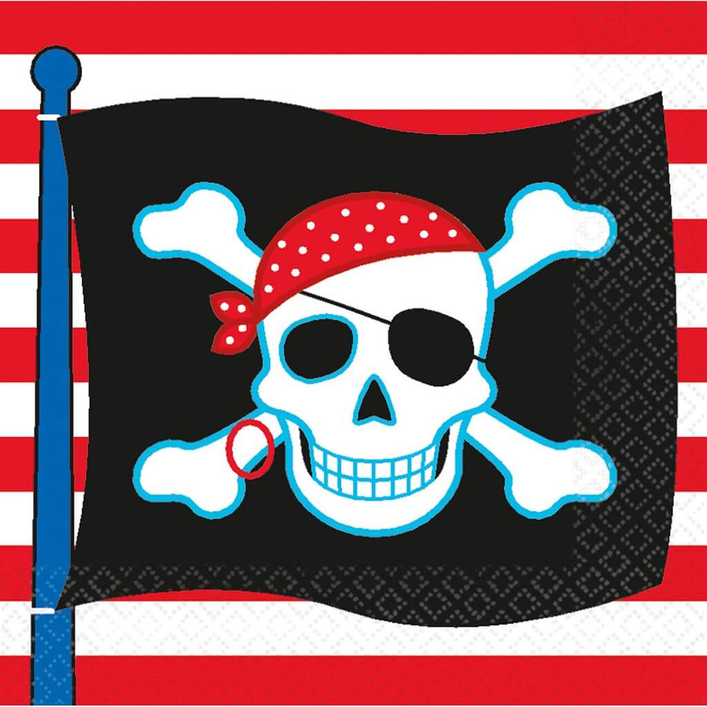 Serviette en papier Pirate party (Lot de 16)