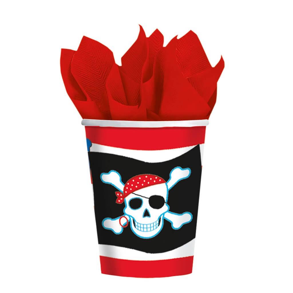 Gobelet en papier Pirate Party (lot de 8)