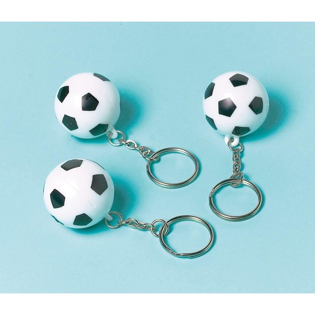 12 Porte-clefs Ballon de Foot ø3cm