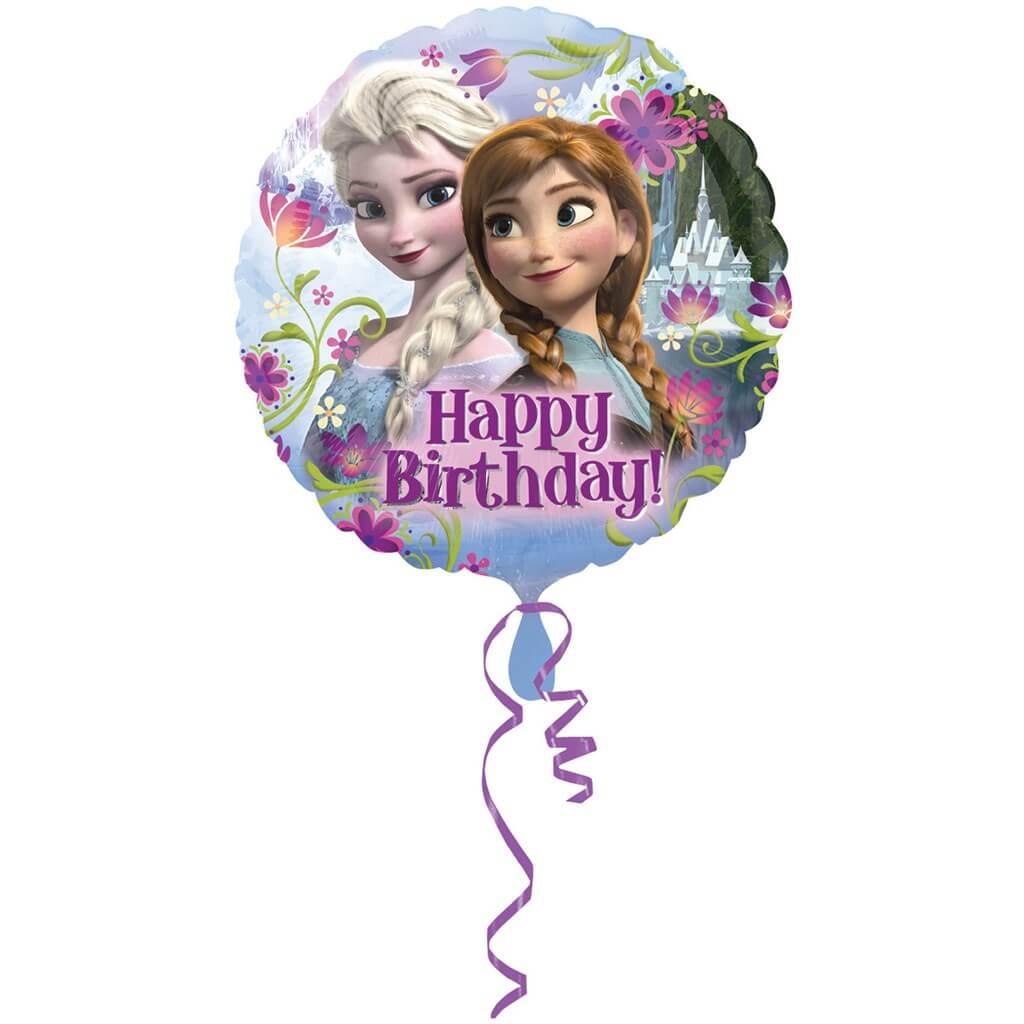 Ballon happy Birthday Reine des Neiges ø43cm