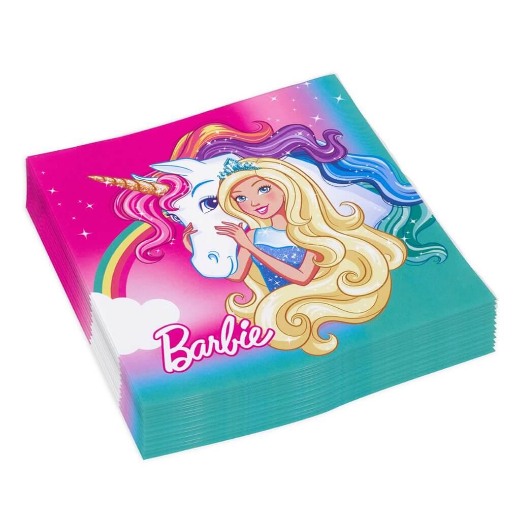 Serviette en papier Barbie Dreamtopia (Lot de 20)