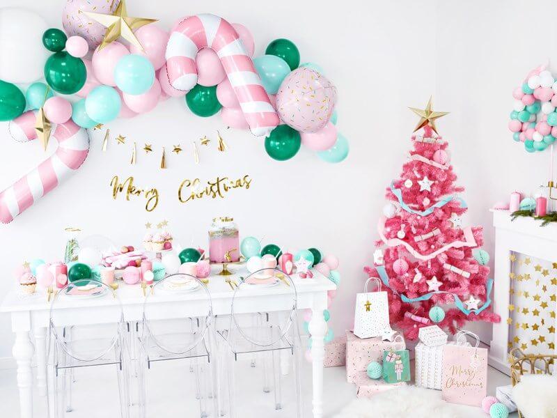 Guirlande en papier Merry Christmas Or