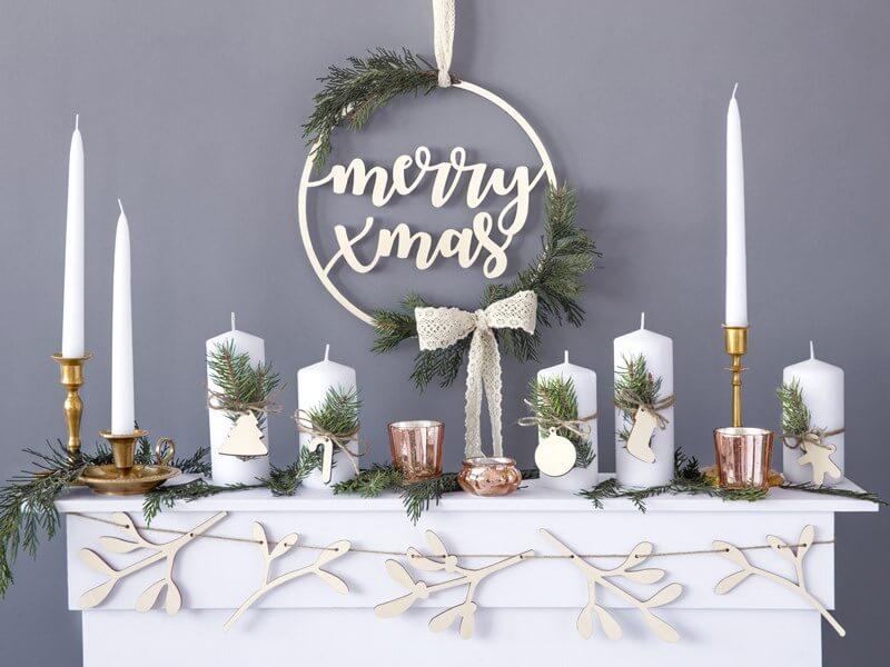 Décoration en bois Merry Christmas