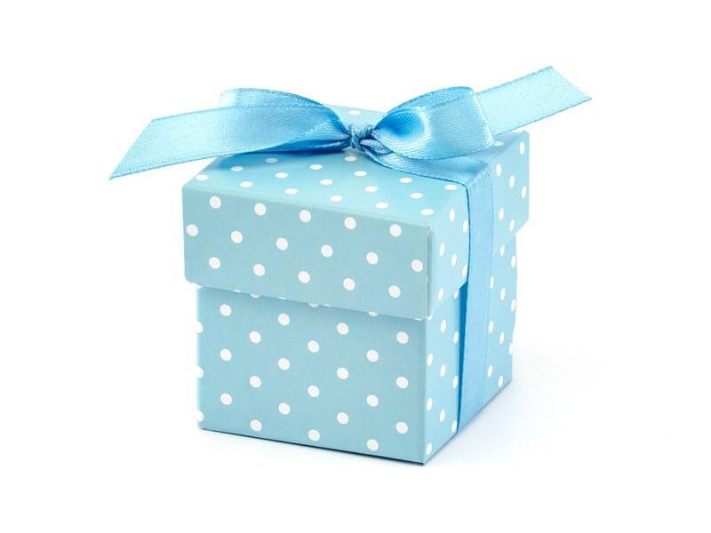 Boîte en papier à pois It's a Boy (10 pièces),