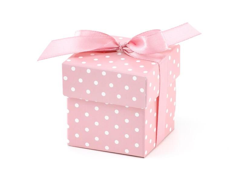 Boîte en papier à pois It's a Girl (10 pièces),