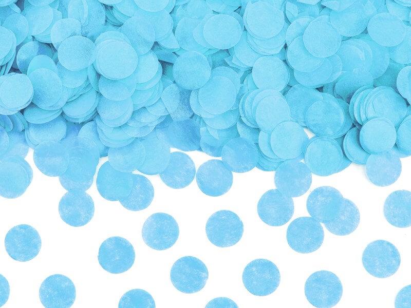 Canon à confettis Géant Gender Reveal Bleu