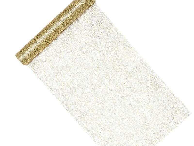 Chemin de table en maille dorée 0,36x9m
