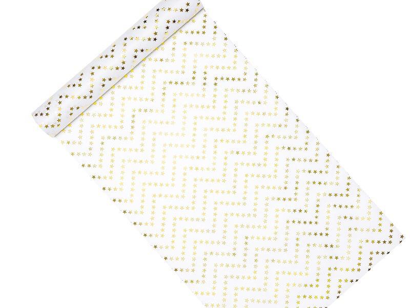 Chemin de table étoile or 0,36x9m