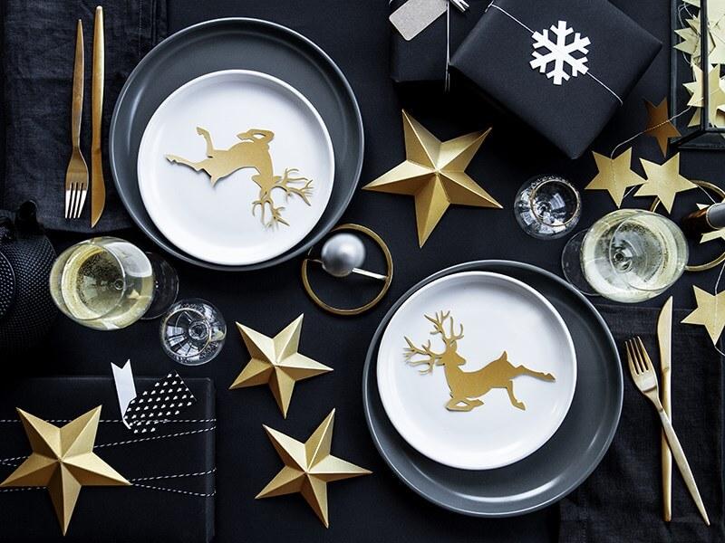 Décoration étoiles dorées (6 pièces)