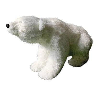 Ours Polaire Géant blanc 100cm