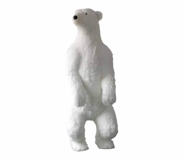 Ours Polaire blanc motorisé et sonore 185cm