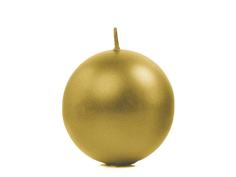 Bougie ronde métallique Or ø 6cm