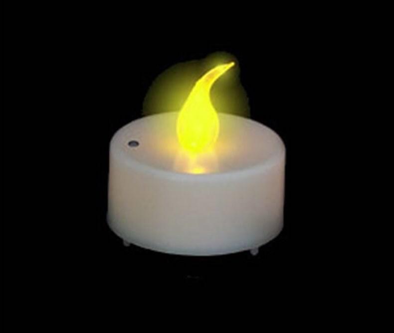 Bougie LED flamme vacillante jaune