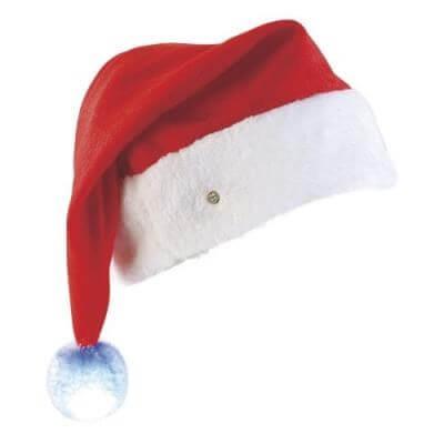 Bonnet de Noël LUXE avec pompon lumineux