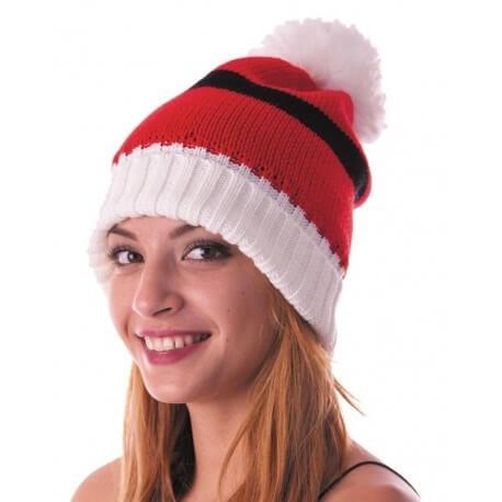 Bonnet de Noël en tricot rouge