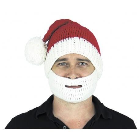 Bonnet et barbe de Noël en tricot