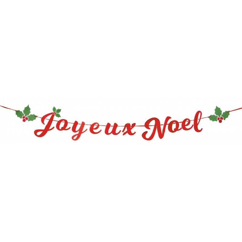 Guirlande Joyeux Noël Rouge
