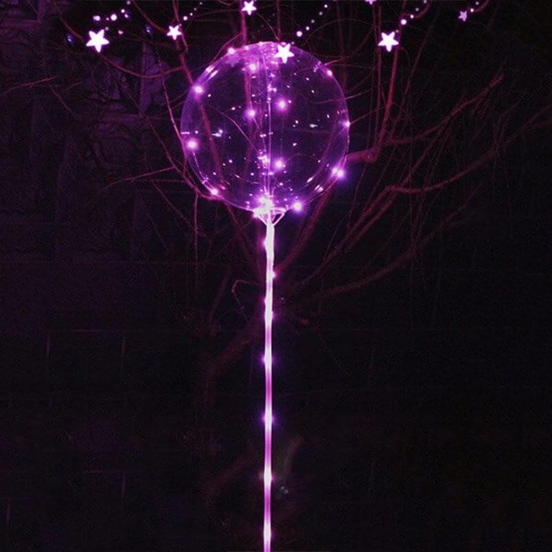 Ballon bulle LED lumineux Rose