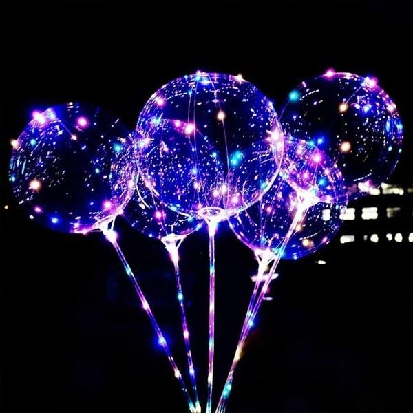 Ballon bulle LED lumineux Bleu