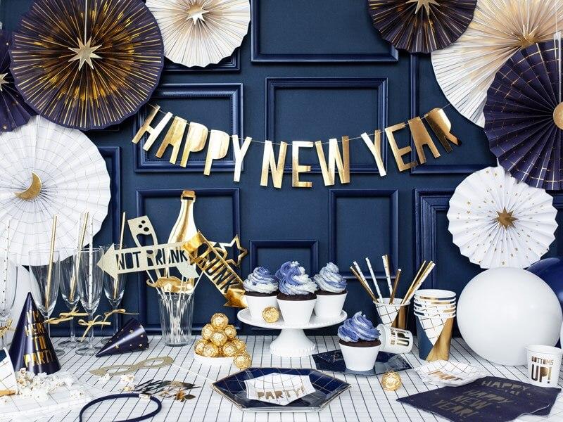 Guirlande Happy New year Or