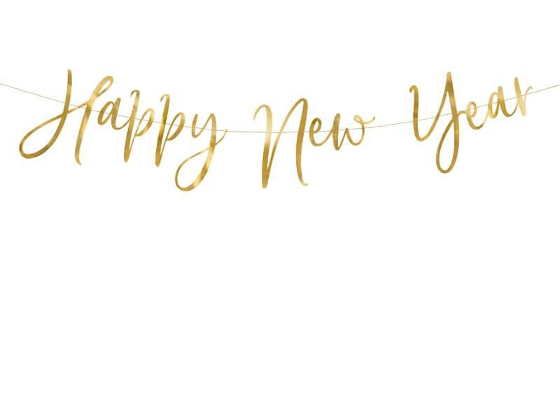 Guirlande Happy New Year Script Or