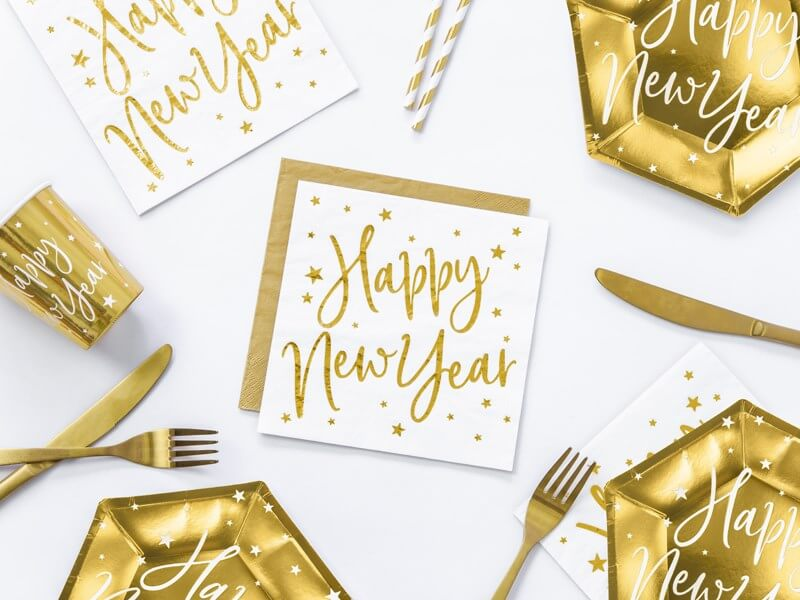 Serviette en papier Happy New Year (Lot de 20)