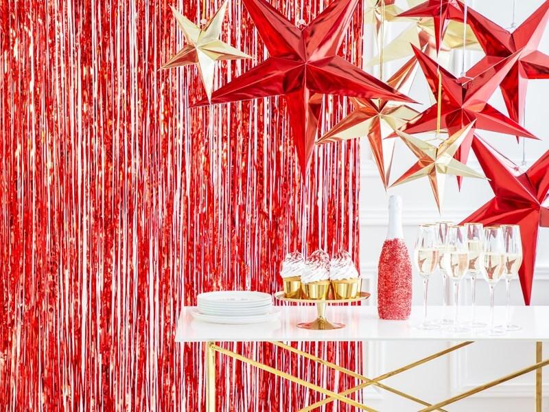 Étoile en papier Rouge 30cm