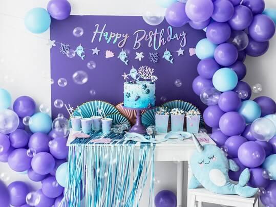 Rideau scintillant à franges Bleu clair 90x250cm