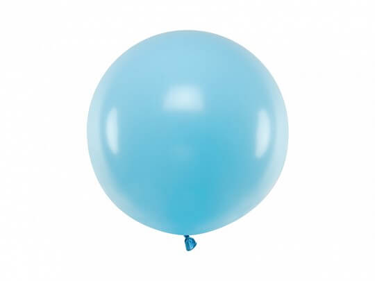 Ballon rond Bleu clair Pastel ø60cm