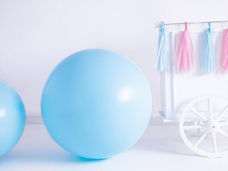 Ballon Géant rond Bleu clair Pastel ø100cm