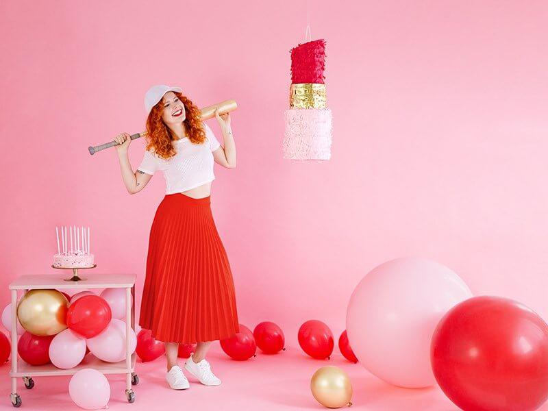 Ballon Géant rond Rose clair Pastel ø100cm