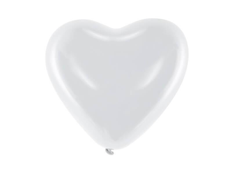 Lot de 100 Ballons Coeur Blanc Pastel