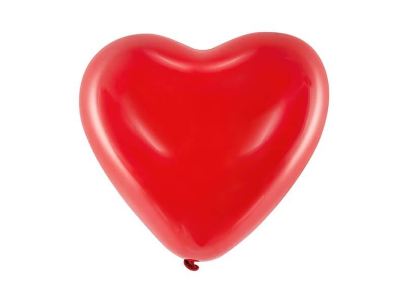 Lot de 100 Ballons Coeur Rouge Pastel