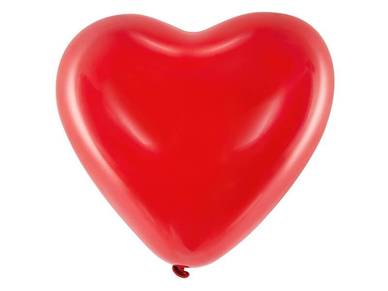 Ballon Coeur Rouge Pastel 40cm (Lot de 6)