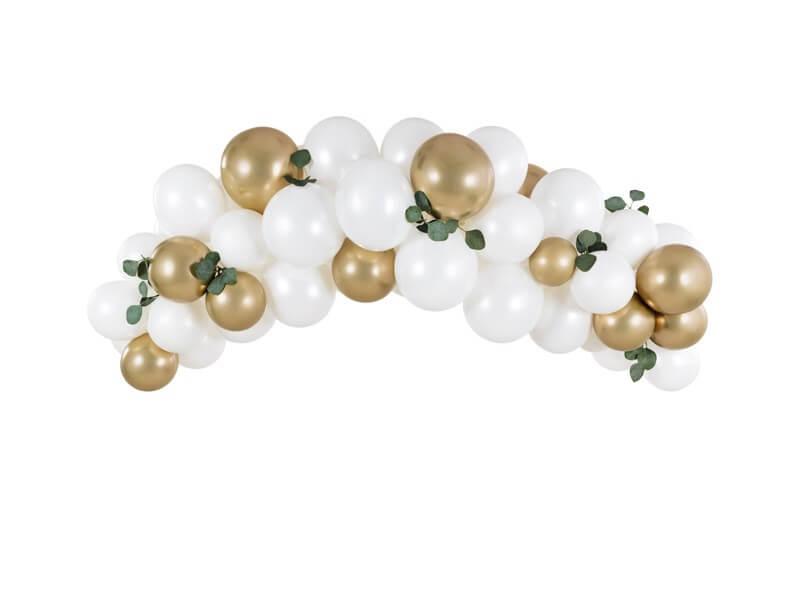Arche de ballons Or et Blanc