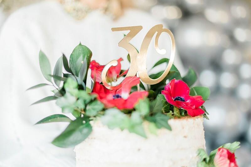 Décoration pour Gâteau 30 couleur Or