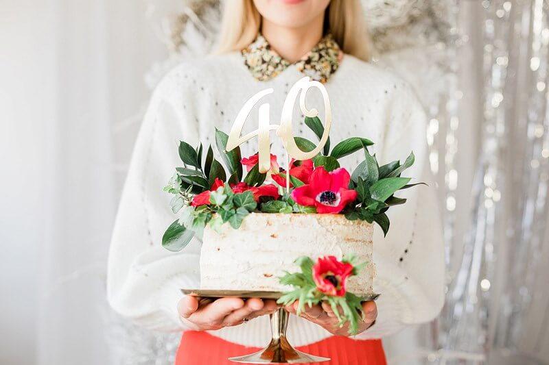 Décoration pour Gâteau 40 couleur Or