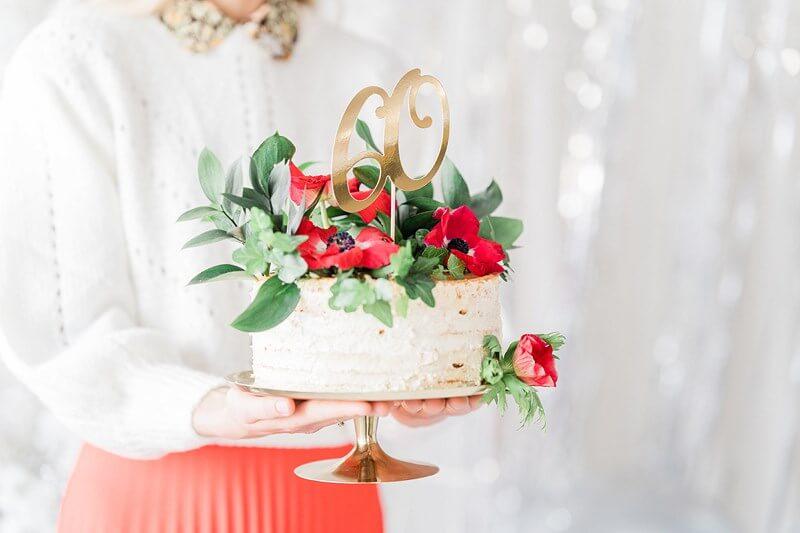 Décoration pour Gâteau 60 couleur Or
