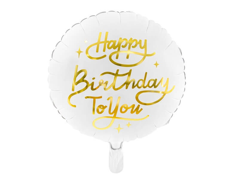 Ballon Happy Birthday to You ø35cm