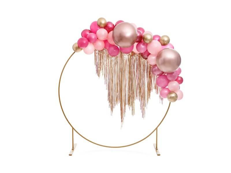 Ballon Rond Or Rose Métallique ø60cm